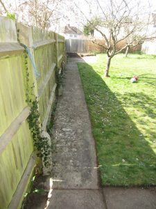 after unkempt rented property garden revived by the landgirl